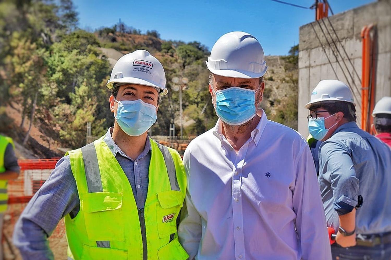 Ministro encabeza inauguración del proyecto Conducción Los Aromos-Concón