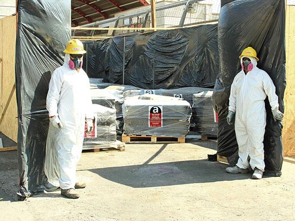 Almacenamiento de asbesto