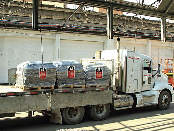 Transporte de asbesto