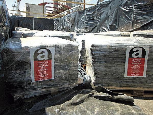 Zona de trabajo con asbesto 1