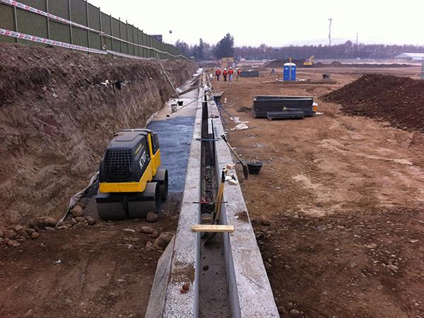 Obras civiles en Cocheras metro 3