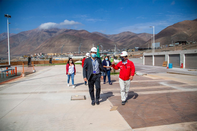 Intendente visita avances de 95% en Borde Costero de Playa El Salitre de Tocopilla